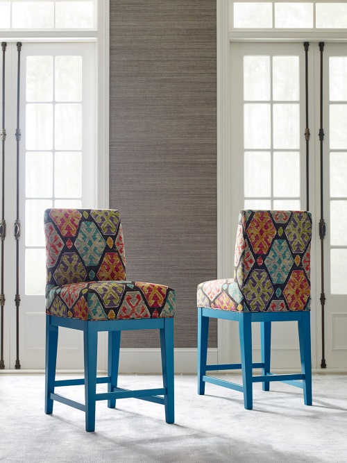 Color splash...blue bar stool