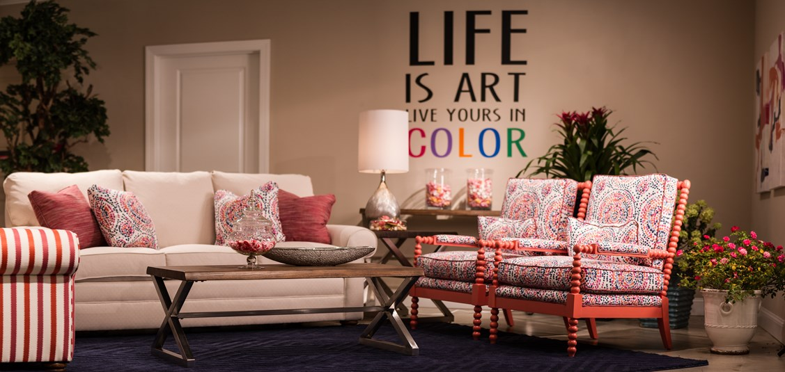 Colorpop living room furniture