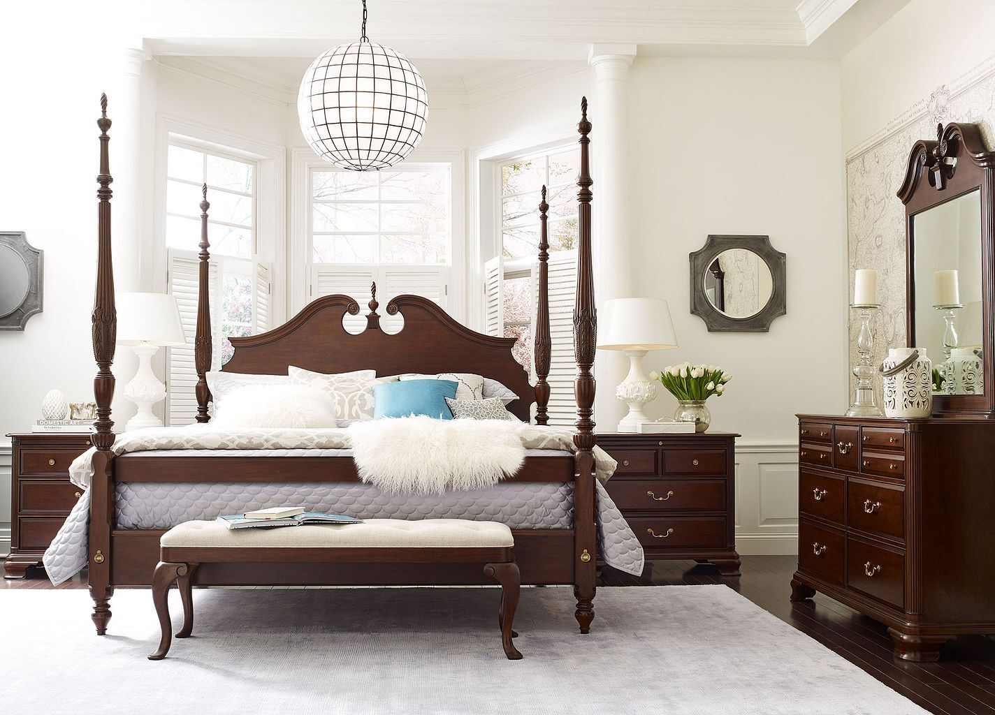 used bedroom sets rice carved king bed complete 13702