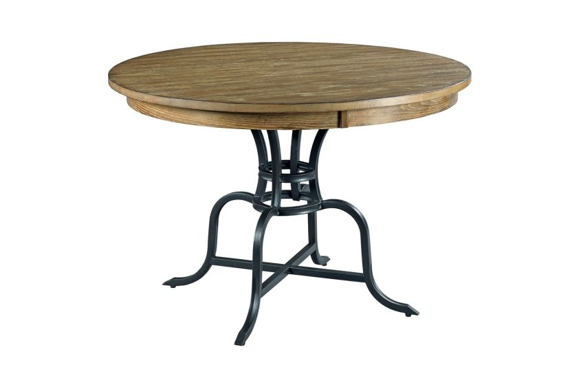 "44"" ROUND DINING TABLE WITH METAL BASE"