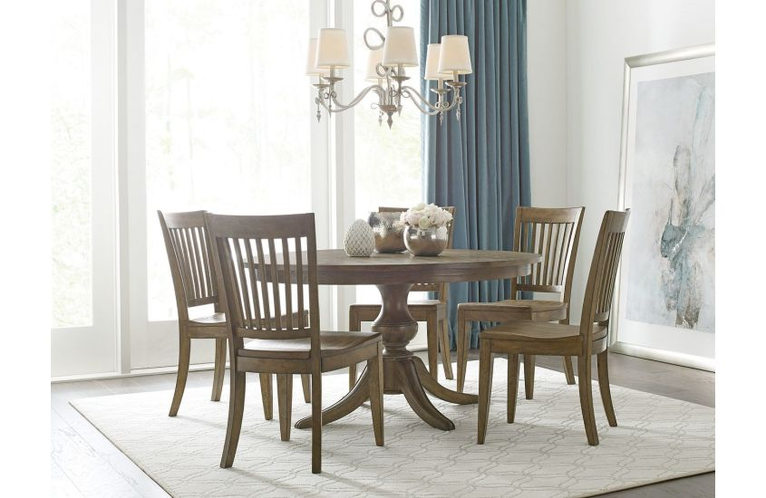54 Round Dining Table With Wood Base