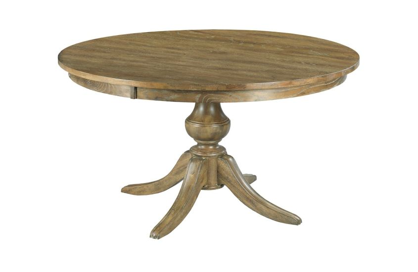 Wood And Metal Round Dining Table Part - 33: Kincaid Furniture