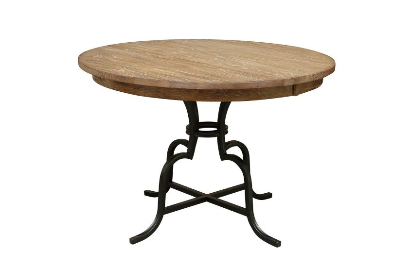 Wood And Metal Round Dining Table Part - 21: Kincaid Furniture