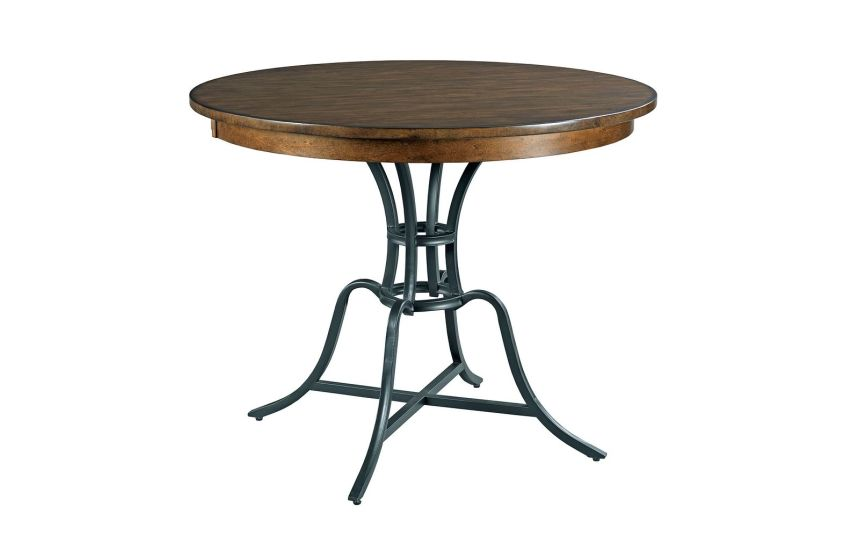"44"" ROUND COUNTER HEIGHT TABLE WITH METAL BASE"
