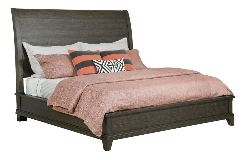 EASTBURN SLEIGH KING BED - COMPLETE