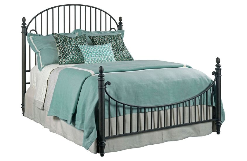 CATLINS KING METAL BED - COMPLETE