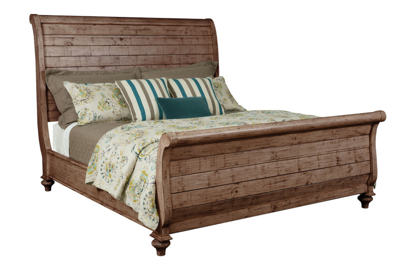 LYNTON SLEIGH KING BED - COMPLETE