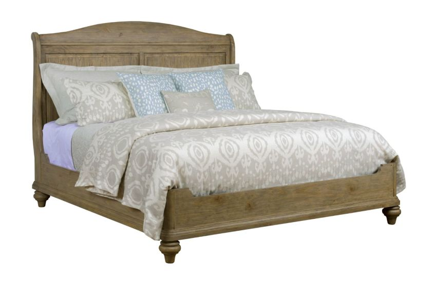 SERENITY SLEIGH KING BED - COMPLETE