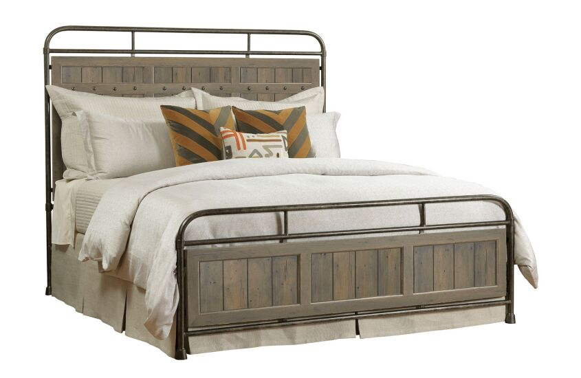 FOLSOM KING METAL BED - COMPLETE