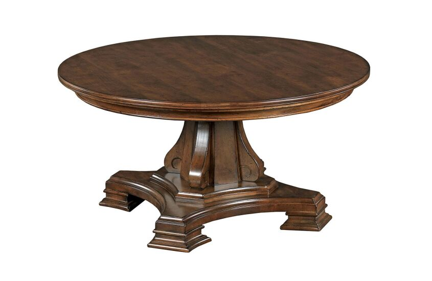 PORTOLONE ROUND PEDESTAL COCKTAIL TABLE COMPLETE