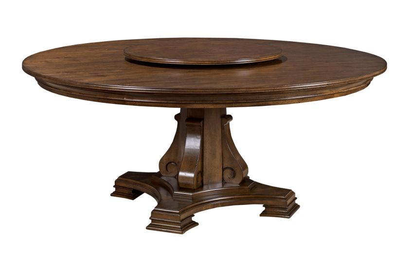 "STELLIA 72"" PEDESTAL TABLE COMPLETE"
