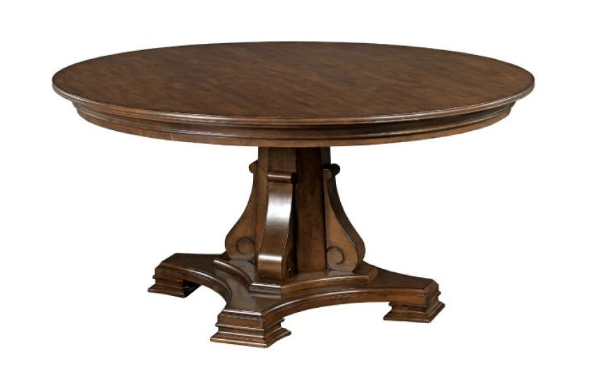 "STELLIA 60"" PEDESTAL TABLE COMPLETE"
