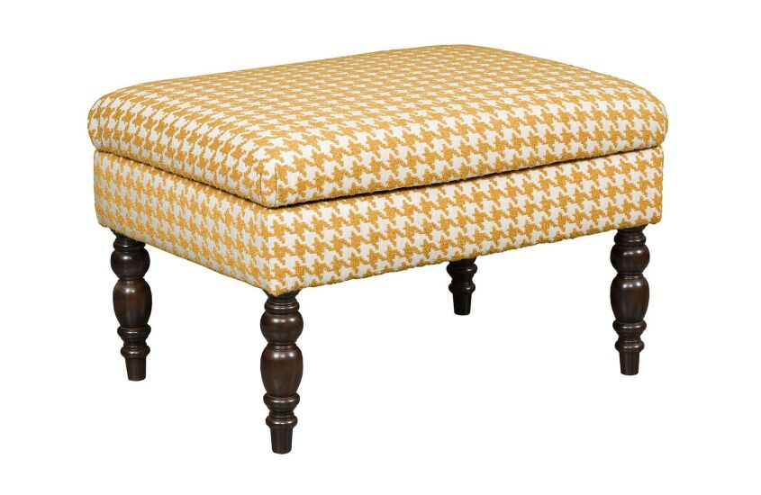 SMALL COCKTAIL OTTOMAN-TURNED LEG
