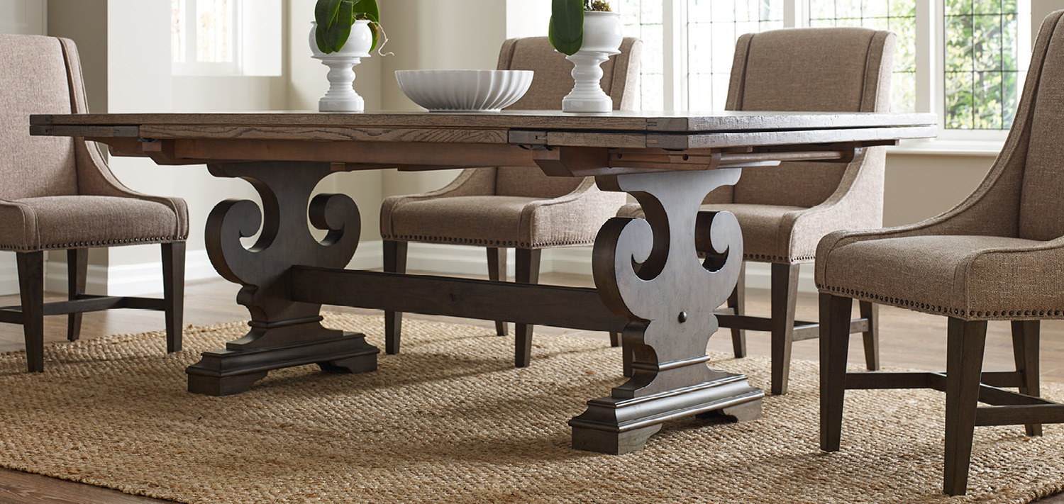 All Wood Dining Room Table Solid wood making a fashion statement. A few things are still made the way  they used to be