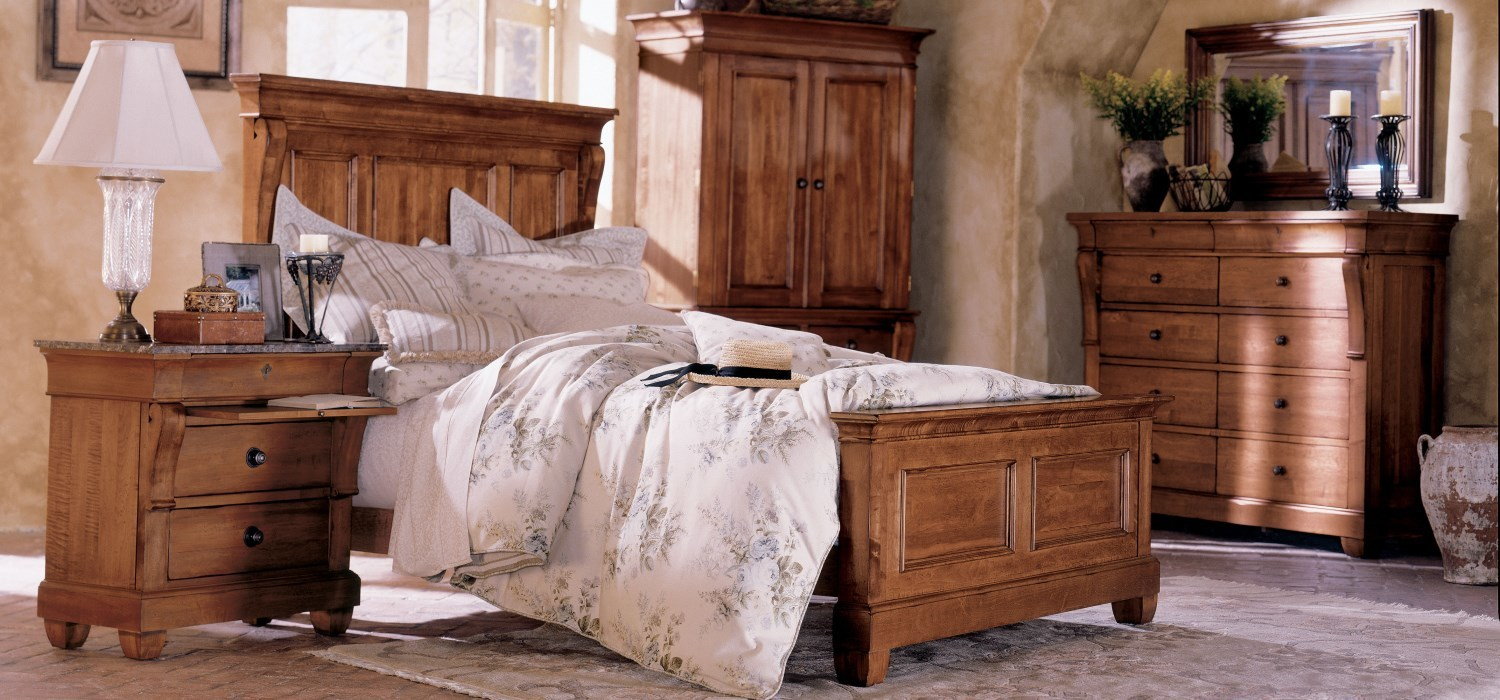 Tucscano Solid Wood Bedroom, Dining Room, and Living Room Furniture