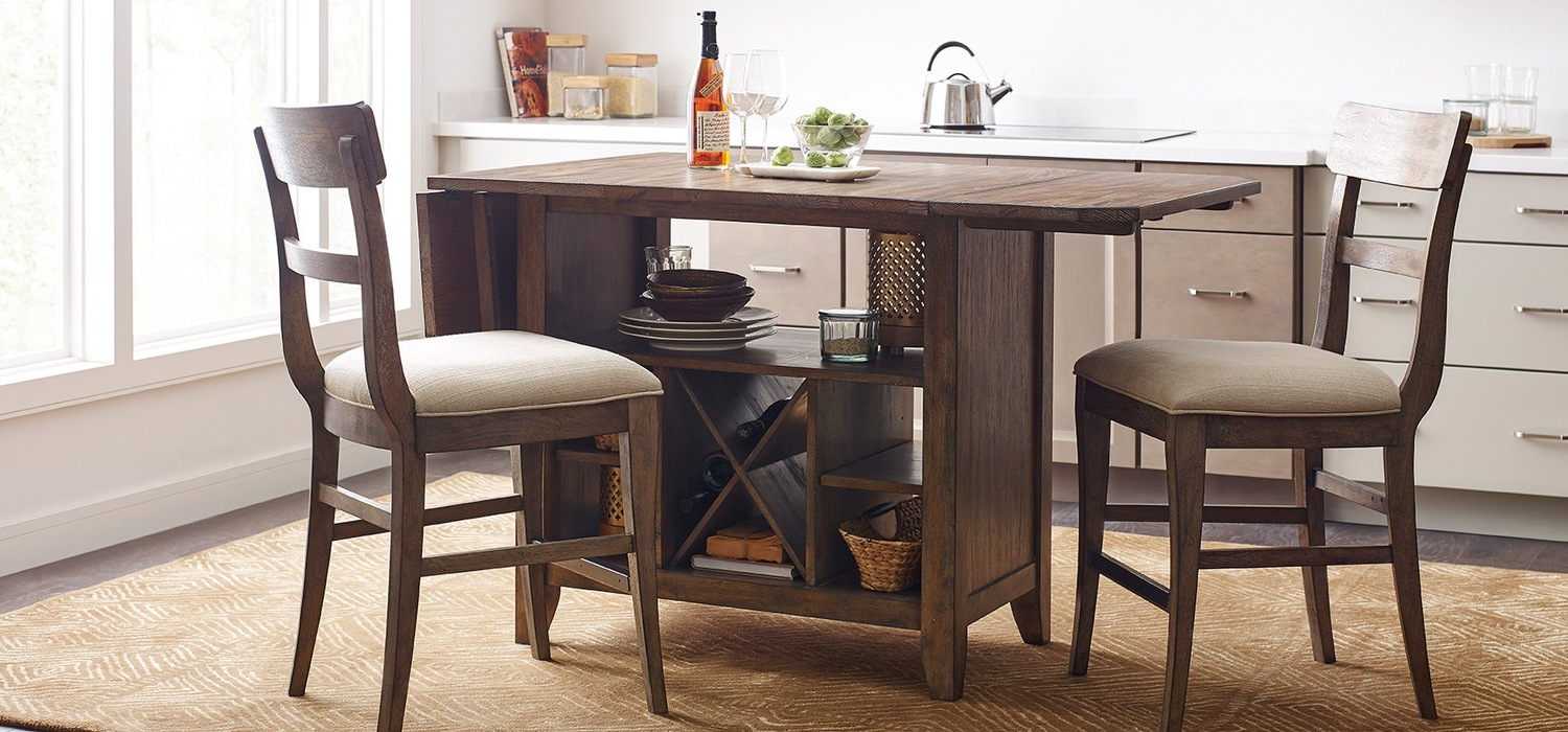 The Nook solid oak kitchen island small
