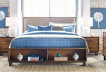 Traverse solid maple furniture, upholstered bed thumbnail