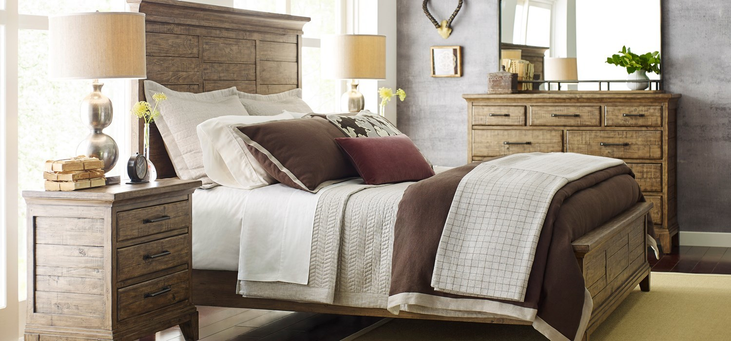 Plank Road casual solid wood bedroom furniture by Kincaid Furniture