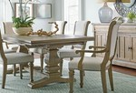 Rustic pine farmhouse dining table by Kincaid Furniture thumbnail