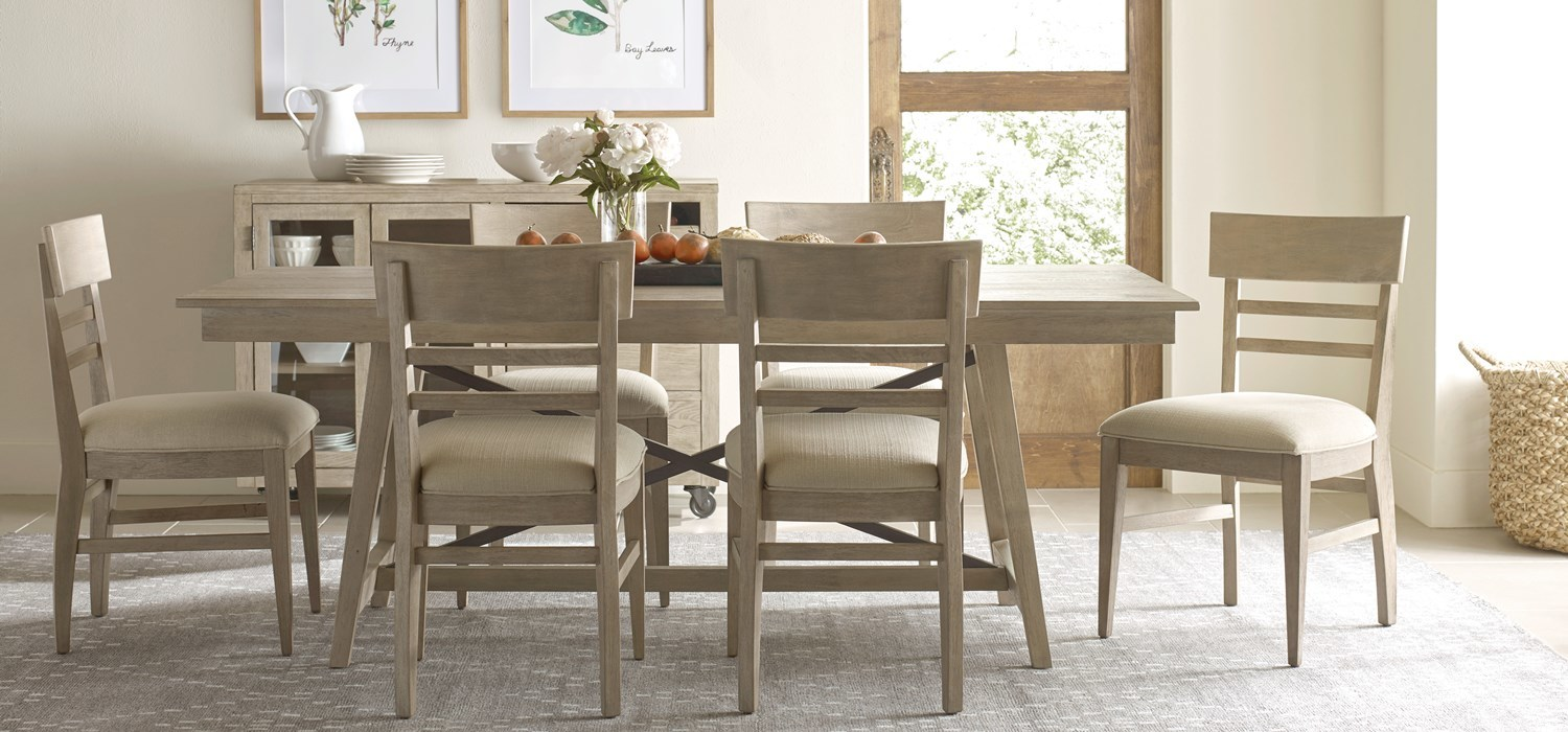 Modern casual dining style in authentic solid wood by Kincaid Furniture