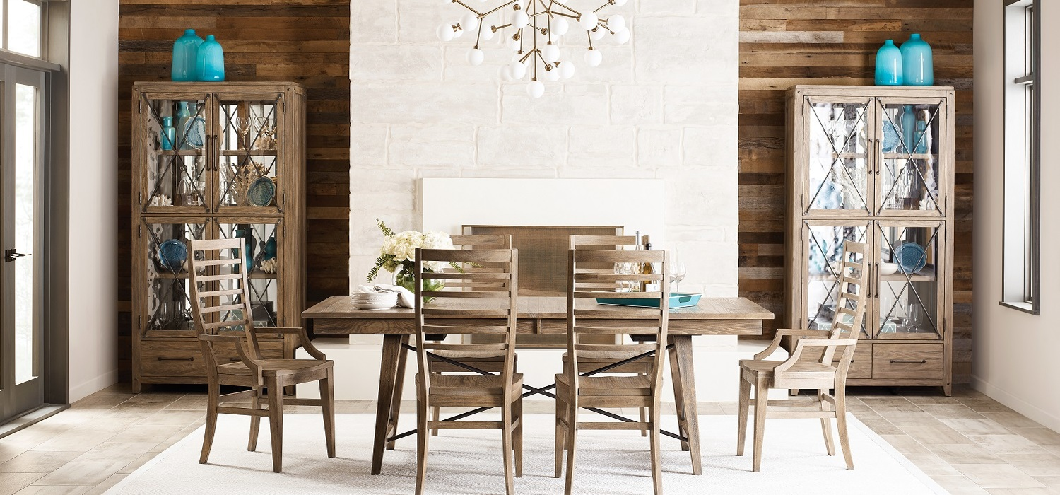Modern styling in classic solid wood construction