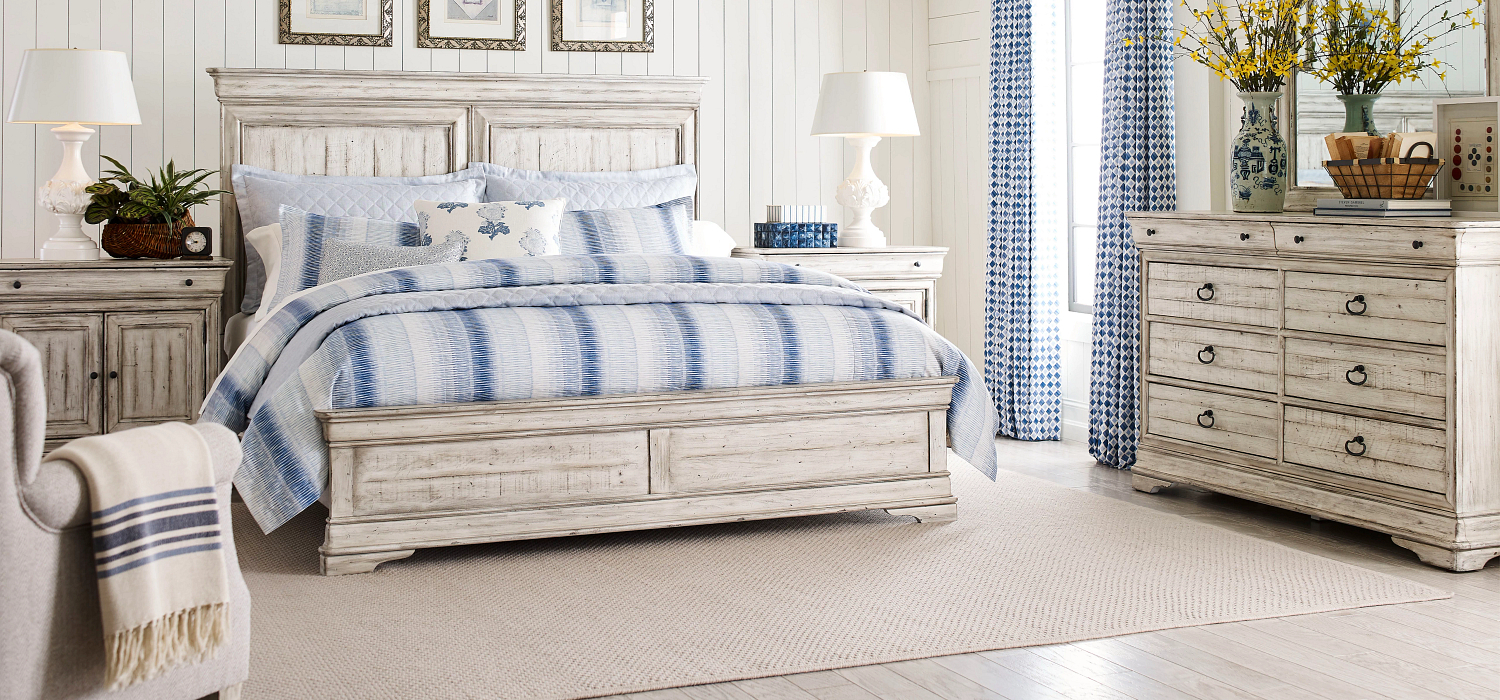 Classic French styled solid wood bedroom furniture