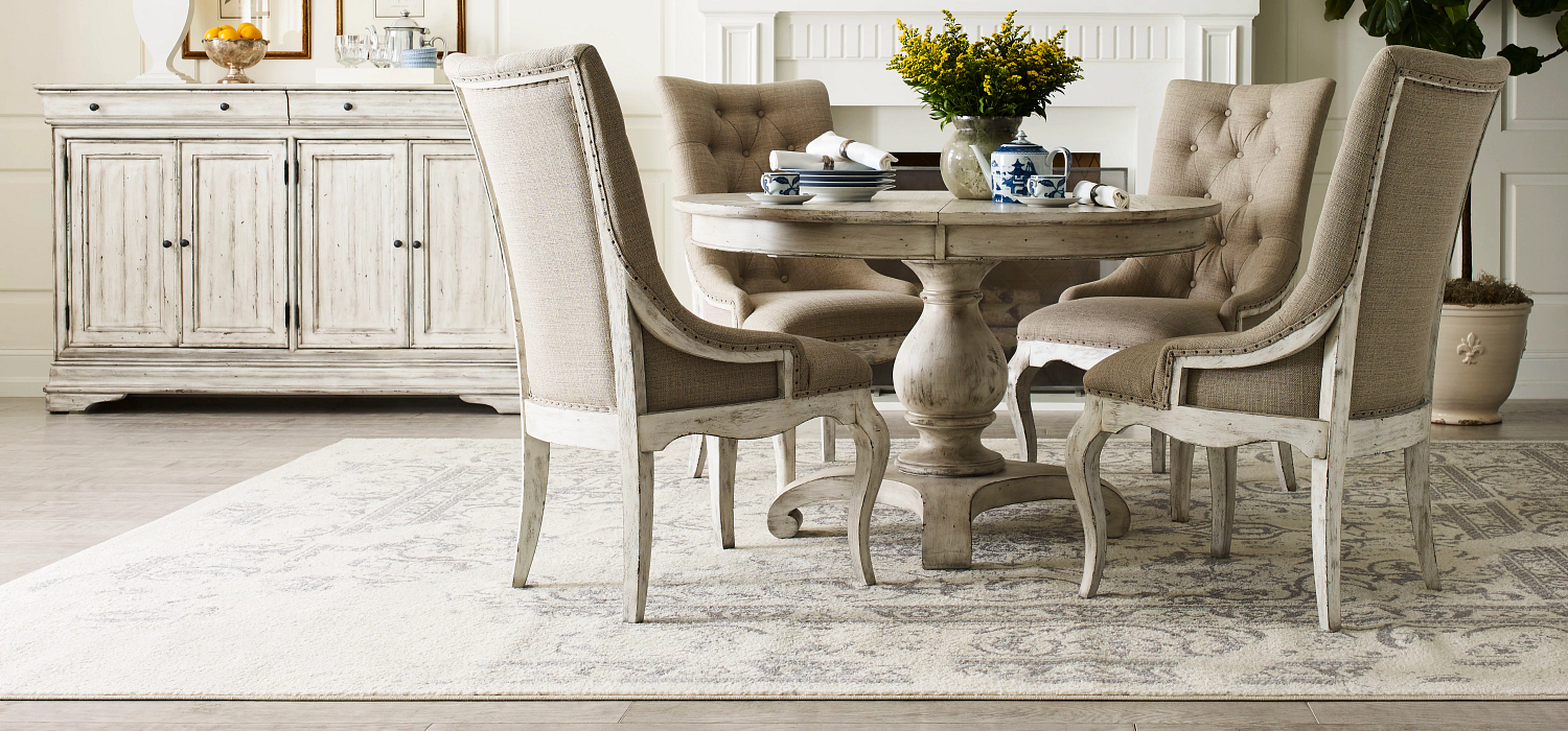 Classic Traditional French styled solid wood dining room furniture