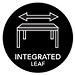 Integrated Extension Leaves - This dining table includes Kincaid's Integrated Extension Leaf system making adding or storing leaves quick and easy