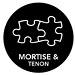 Mortise & Tenon Joinery - Features time-tested mortise & tenon joinery